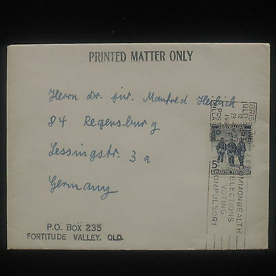 WS-E431 AUSTRALIAN ANTARCTIC TERRITORY - Cover, Printed Matter 1954 To Germany