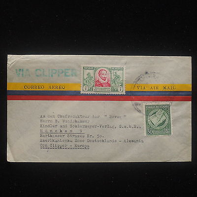 WS-E470 ECUADOR - Clipper, Airmail 1950 To American Zone In Germany Cover