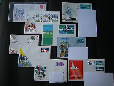 GB Stamps First Day Covers (1969 ) 9 covers Job Lot 4