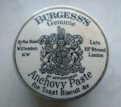 Burgess's Anchovy Paste potlid and base