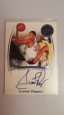 2007-08 Press Pass Authentics autograph Scottie Pippen basketball card