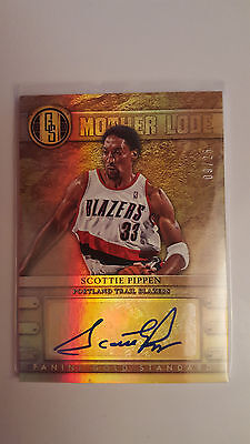 2012-13 Panini Gold Standard Mother Lode /25 Scottie Pippen autographed card
