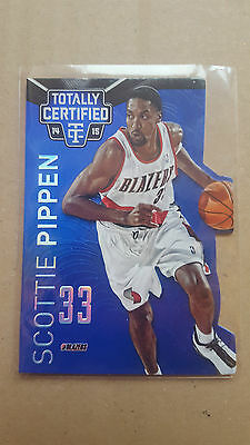 Scottie Pippen 2014-15 Panini Totally Certified Platinum mirror blue die-cut /74