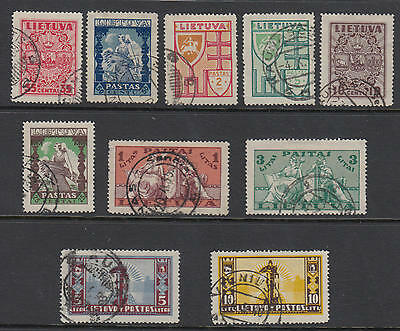 WS-E800 LITHUANIA - Set, 1934/5 Various Subjects, 10V. Sc.286/95 USED