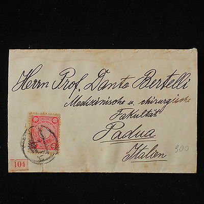 WS-E881 JAPAN - Wrapper, 4S. Pink 1911 To Padova Italy Sc. 99a Cover
