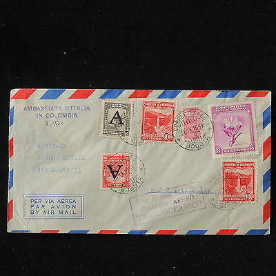WS-E922 COLOMBIA - Avianca, Great Airmail 1951 To Italy Bari Cover