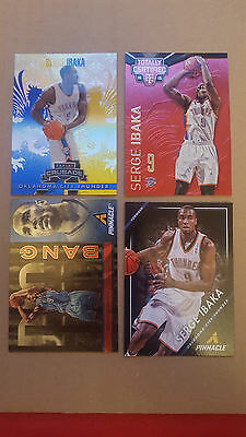 Serge Ibaka LOT 4  different  inserts,numbered CARDS LOT!!!
