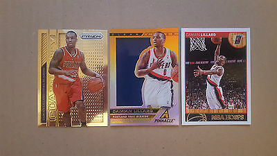 Damian lillard LOT 3  different  inserts,numbered CARDS LOT!!!