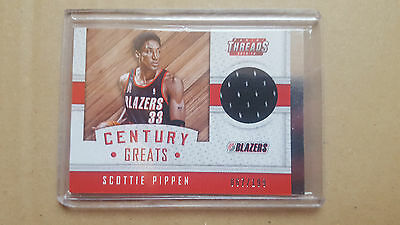 Scottie Pippen 2015-16 Panini Threads Century Greats game-worn jersey /199
