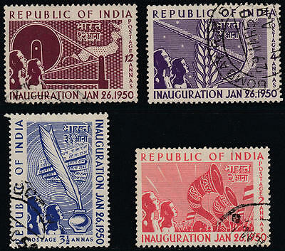 WS-F155 INDIA IND - Set, 1950 Inauguration Of Republic SG329/32 £10 Used