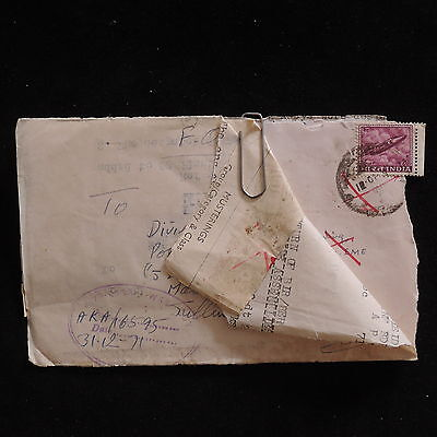WS-F185 INDIA IND - Censored, Rare 1971 Redirected Military Cover