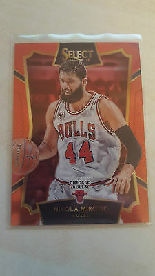 2015-16 Panini Select Nikola Mirotic RED PRIZM 008/149 low numbered rare insert