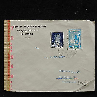 WS-F198 TURKEY - Censored, 1939 To Germany Cover