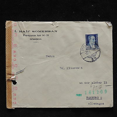 WS-F199 TURKEY - Censored, 1942 To Germany Cover