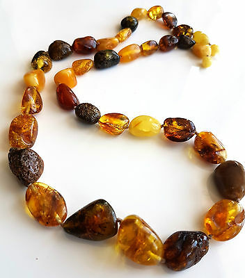 GENUINE BALTIC AMBER NECKLACE 44 g