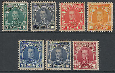 WS-F279 VENEZUELA - Instruccion, 1904 Unissued Set Of 7V. MNH
