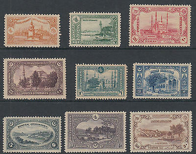 WS-F379 TURKEY - Set, 1920 Designs Of 1913 Modified Sc.590/8 MH/MNH