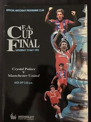 FA Cup Final Crystal Palace v. Manchester United 1990