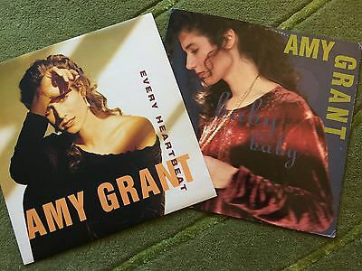 """Amy Grant 2 x 12"""" singles - Baby Baby & Every Heartbeat"""