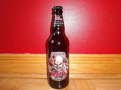 Iron Maiden The Trooper 666 Beer Bottle + Cap Empty Limited Edition Usa Ship 11$