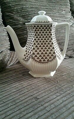 Coleclable Real English Ironstone  tea pot ADAMS Sharon