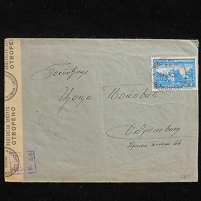 WS-F627 SERBIA - German Occupation, Censored 165, Belgrade 1942 Cover