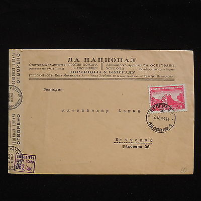 WS-F628 SERBIA - German Occupation, Censored 062, Belgrade 1944 Cover