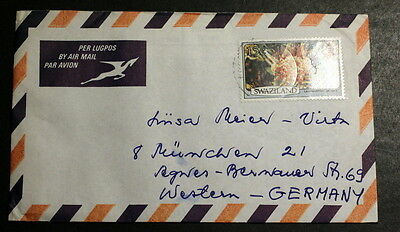 Swaziland cover to Germany #017