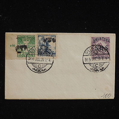 WS-F662 CROATIA - Overprinted, 1919 Vukovar On Not Posted Cover