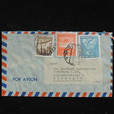 WS-F678 CHILE - Airmail, To Germany 1952 Cover