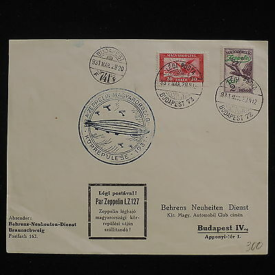 WS-F771 HUNGARY - Zeppelin, 1931 Rundfahrt Budapest (I) Si.102Ab LZ127 Cover