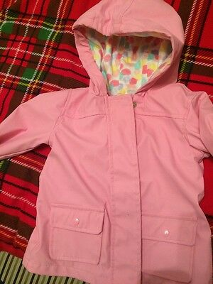 Girls/baby Pink Hooded Raincoat From tesco Size12-18 Months