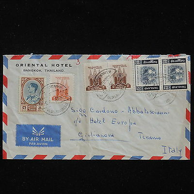 WS-F815 THAILAND - Cover, Airmail 1962 To Giulianova Italy