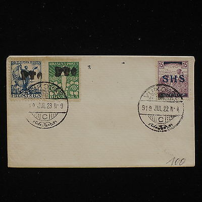 WS-F880 CROATIA - Overprinted, Vucovar 1923 Non Posted Cover