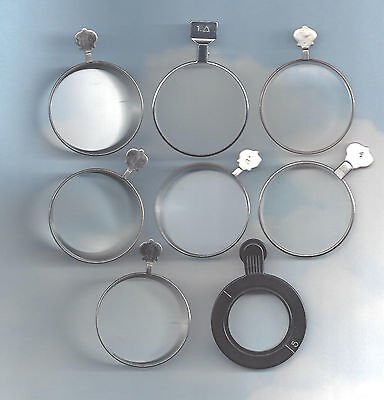 8 PRISM TYPE OPTICAL LENSES....  Altered Art ..Steampunk or Goth..