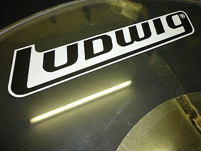 "LUDWIG Rockers 1980s SILVER DOT CLEAR 24"" Bass Drum Head for Drum Kit"