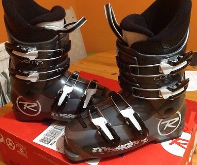 Rossignol Comp J4 Ski Boots, 23.5 (UK 4.5) Grey, Excellent Junior Ski Boots