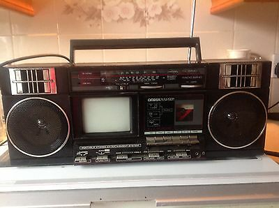 Portable Vintage Radio/TV?Casstette Player - Omega Musivision