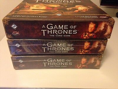 Fantasy Flight Games A Game of Thrones The Card Game Second Edition 3x Core Sets