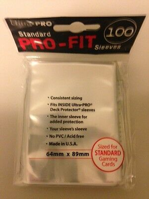 Brand New Ultra PRO Standard PRO-FIT Sleeves 15 x 100