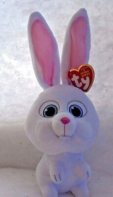 SNOWBALL Bunny/Rabbit MWMTS Ty Beanie Baby Collectible Plush Toy + FREE Gift