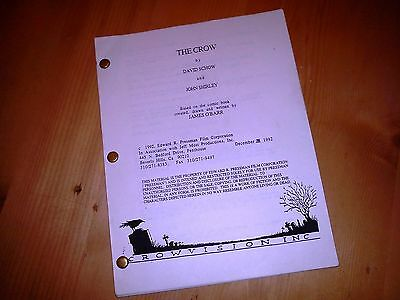 The Crow Production Used Script Very Rare