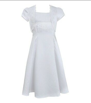 New Girl's Satin Dress with Jacket, Size 7 - NWT - Flower Girl, First Communion