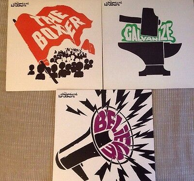 3 X Singles Vinyl Lp Chemical Brothers With Promo Not For Sale Sticker