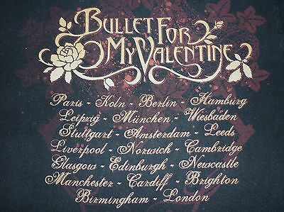 Bullet For My Valentine Tour T Shirt Size S