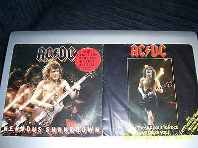 "Ac/dc - ""for Those About To Rock"" & ""nervous Shakedown"" - 2 Singles For Auction"