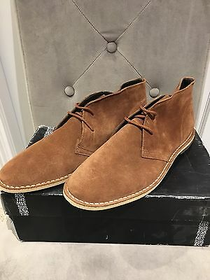 "Sahara Rust Desert Suede Shoes From shu ""Ask The Missus Range"" UK12"