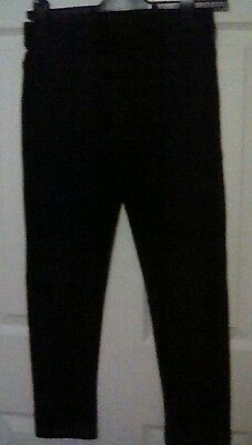 Girls M&S black jeggins age 12 -13years