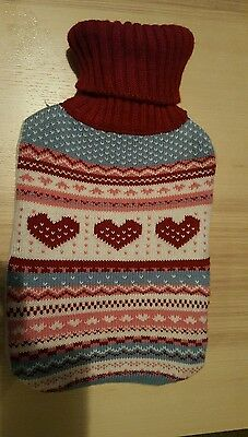 love heat knit hot water bottle and cover