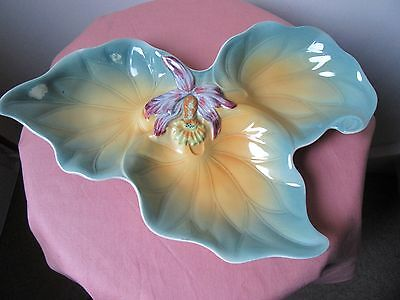 Shorter and Son triad dish, orchid pattern.